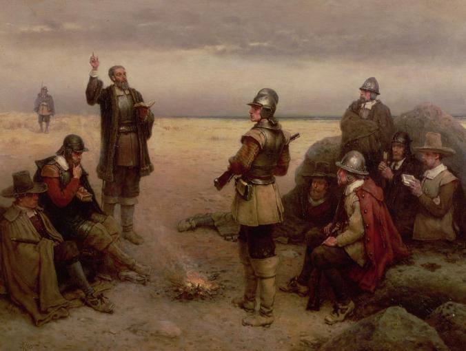 the-landing-of-the-pilgrim-fathers-george-henry-boughton